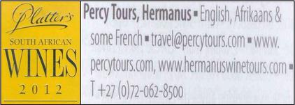 Wine Tours of Hermanus with Percy Tours in the John Platter wine book of South Africa