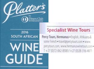 John Platter recommends Percy Tours in Hermanus for Hermanus Wine Tours