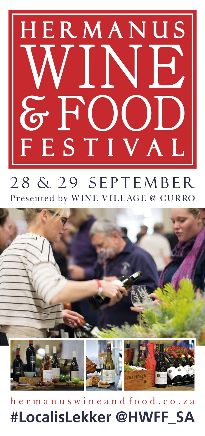 Hermanus Wine and Food Festival 2019 at Curro School 28th & 29th Sept