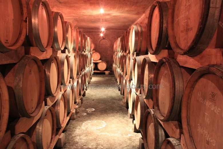 Winery Oak barrel cellars in Hermanus, Stanford, Botrivers, Elgin winelands, near Cape Town, South Africa