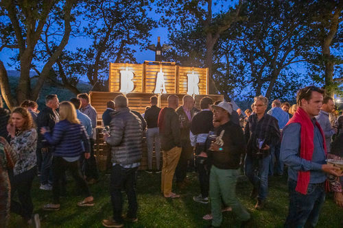 Night party at Pinot Noir Celebration, Hermanus, Hemel en Aarde, near Cape Town, South Africa
