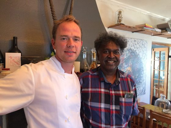Anton Verhoogt and Darryl David in Hermanus, Gastronomic town of Africa, near Cape Town, South Africa